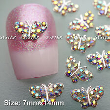 10 Pcs Alloy Jewelry 3D DIY Rhinestone Nail Art Glitters Slices SA074