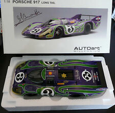 Porsche 917 Hippie Le Mans 24h 1970 Auto Art 1:18 model Hand signed by Larrousse