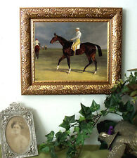 Herring Thoroughbred Race Horse Print Antique Vintage Style Framed