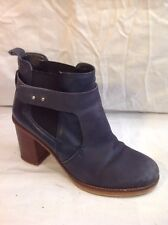 Office London Dark Grey Ankle Leather Boots Size 41