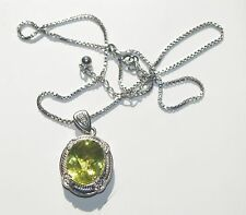 Sterling Silver Lemon Citrine and White Sapphire necklace