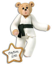 KARATE Bear Personalized Christmas Ornament by Deb & Co