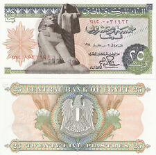 EGYPT 25 Piastres Banknote World Money aUNC Currency BILL p47 Africa Note 1976