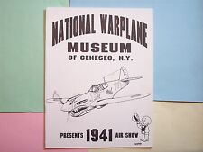1988 WINGS OF EAGLES WWII 1941 AIR SHOW GENESEO NEW YORK NATIONAL WAR PLANE MUSE