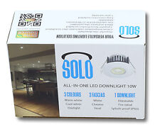 10w SOLO All In One IP65 Dimmable LED Downlight, 850 Lumen, 3 Colours, 3 bezels