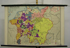 Schulwandkarte Wandkarte Deutschland nach dem 30jährigen Krieg Schulmann 92x59cm