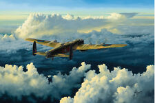 Avro Lancaster Bomber Plane 101 Squadron Aircraft Airplane Painting Art Print