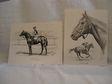 Kentucky Derby Horses-Seabiscuit and Man Of War- Pencil art