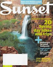 SUNSET (magazine) March 2011 -- Spring hikes & trips, Backyard makeovers