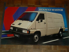 Affiche  RENAULT MASTER T35D blanc  fourgon truk poster
