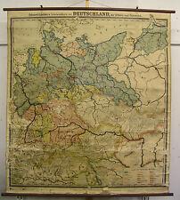 Schulwandkarte Wandkarte Deutsches Reich Deutschland Schweiz Österreich 150x167