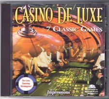 Casino De Luxe 7 Classic Games - PC CD ROM for Windows - Free USA Shipping!