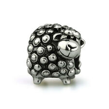 Curly Sheep Genuine Sterling Silver Solid Charm OHM Bead AAA037