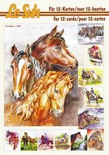 Le Suh Horses A5 Book 3D Decoupage Card Making Paper Crafts CUTTING REQUIRED