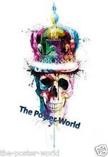 Beautiful Colourful Skull Image Picture Poster Home Art Print Wall Decor New