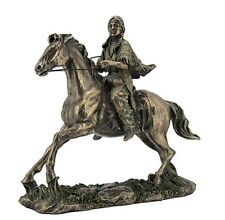 "11"" Indian Woman on Trotting Horse Native American Statue Indian Decor India"