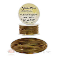 24 Gauge Brass Artistic Craft Wire 30 Feet 9.14 Meters Jewelry Beading Crafts