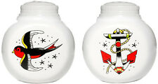 Sourpuss  Anchor & Sparrow Salt and Pepper Shakers White Nautical