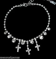 Cross Ankle Anklet BRACELET Crystal Women Free Toe Ring New