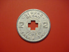 Vintage Colorado Retail Sales Tax Token Colorado Aluminum 2 Mills 1/5 Cent