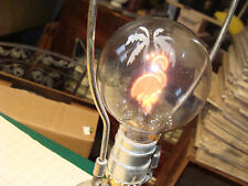 Vintage BULB: NEON GLOW PINK FLAMINGO & PALM TREE aerolux or birdseye ?? WORKS
