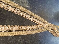 1M  GOLD BRAID METALLIC LACE RIBBON TRIM PLATT 22 MM WIDE