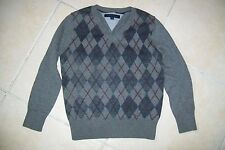 Tommy Hilfiger-grey jumper/sweater.4Y.Cotton/wool.Worn once.RRP 50£