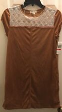 Taylor & Sage Junior's Tan Suede Dress size XS NWT
