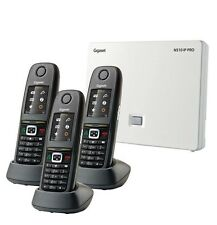 Gigaset N510IP SIP VOIP DECT Base  with 3 x R650H Pro handsets- POE - IP65