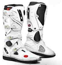 SIDI CROSSFIRE MOTOCROSS BOOTS NEW #44 US#10 WHITE Motorcross Dirt bike Off Road