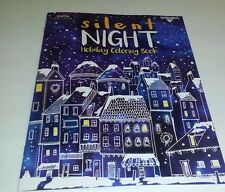 Adult Coloring Book Silent Night Holiday Coloring Book  31 sheets to color U.S.A