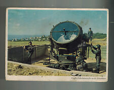 Mint WW2 Germany Air Force Luftwaffe Searchlight Unit Color Postcard RPPC