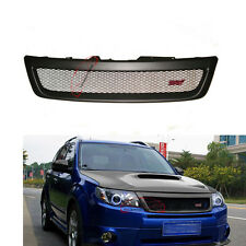 For Subaru 2009-2012 10 11 Forester Front Grille W/STI Emblem Grill ABS Plastic