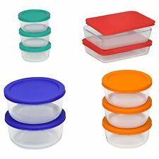 Pyrex 20 pc Glass Food Storage Set Bakeware Bowls with Lids Serving - New!