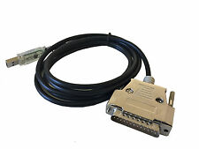 6Ft (6 Feet) USB to Serial RS-232 DB-25 Male Straight-Thru Cable FTDI Chip
