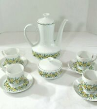 Vintage  Winterling Schwarzenbach Bavaria Germany Yellow Rose Tea Set 10 piece