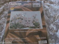 JANLYNN COUNTED CROSS STITCH KIT Garden Cat 80-417 Finished 12 x 8