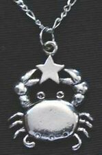 LOOK Cancer Pendant Charm Zodiac Star Sterling Silver 925