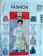 McCALLS Sewing PATTREN  2947 APRON APRONS PATTERN 8 styles one size