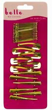 36 PACK OF HAIR CLIPS SLIDES GRIPS GOLD SILVER BROWN BLACK HAIR ACCESSORIES