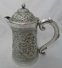 Antique Indian Silver Jug c1900 535g