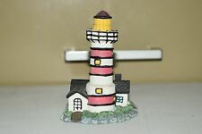 """Resin Lighthouse Red & White Striped Nautical Figure 3.5"""" Tall LH-67"""