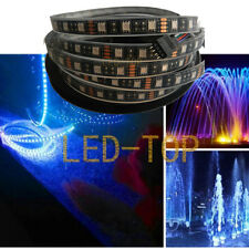 5M 5050 RGB 300LED Waterproof Black Strip Light 60LED IP68 For Swimming Pool 12V