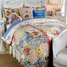 Clever Carriage Home Cotswolds Cottage Reversible 3-piece King Quilt Set New