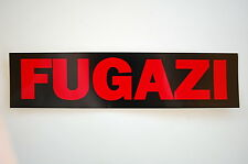 "Fugazi Sticker Decal Bumper Punk Rock Music Minor Threat Window 8""X2"" (70)"