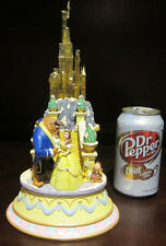 RARE Disney Beauty and the Beast Belle Light Up Castle Figure Statue Display