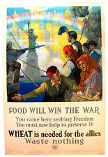 Original WWI War Poster, Food Will Win The War by Chambers 1917