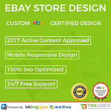 Custom Mobile Responsive eBay Store Shop & Listing Template Design Service 2017
