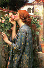 "John W Waterhouse:: l'anima dell' ROSE:: 24 ""Pre-Raphaelite Canvas art print"