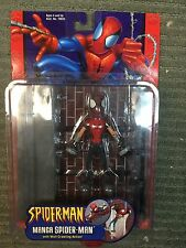 Toy Biz Spiderman Manga Spider-Man Wall Crawling Action Figure NRFB 2002